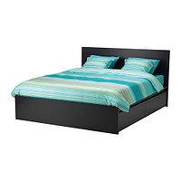 Кровать каркас МАЛЬМ с 2 ящика черно-коричневый 160х200 Лурой ИКЕА, IKEA   , фото 1