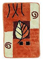 Коврик коричневый/лист 50*80 (77)
