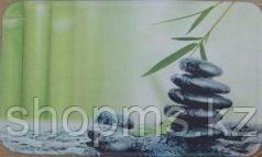 Коврик для ванны нейлон зелёные камни CDB650MА 45*75
