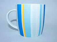 Кружка, синия, керамическая