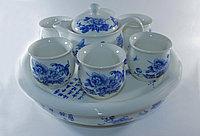 """Чайный сервиз в китайском стиле, """"Синие розы"""", на 6 персон"""