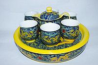 """Чайный сервиз в китайском стиле, """"Дракон"""", на 6 персон"""
