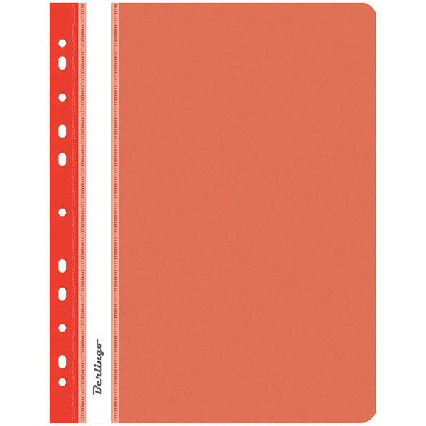 Папка-скоросшиватель пластик, с перфорацией. А4, 180 мкм, красная.
