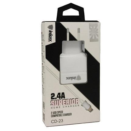 Зарядное устройство INKAX CD-23 Lightning iPhone USB 2.4A, фото 2