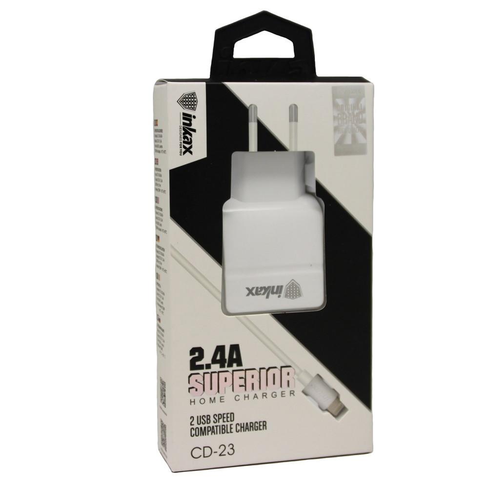 Зарядное устройство INKAX CD-23 Lightning iPhone USB 2.4A