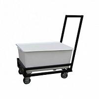 Тележка для перевозки белья ТП-200-М (ТМБ-1) 200 л., корзина из пластика