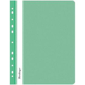 Папка-скоросшиватель пластик с перфорацией. А4, 180 мкм, зеленая.