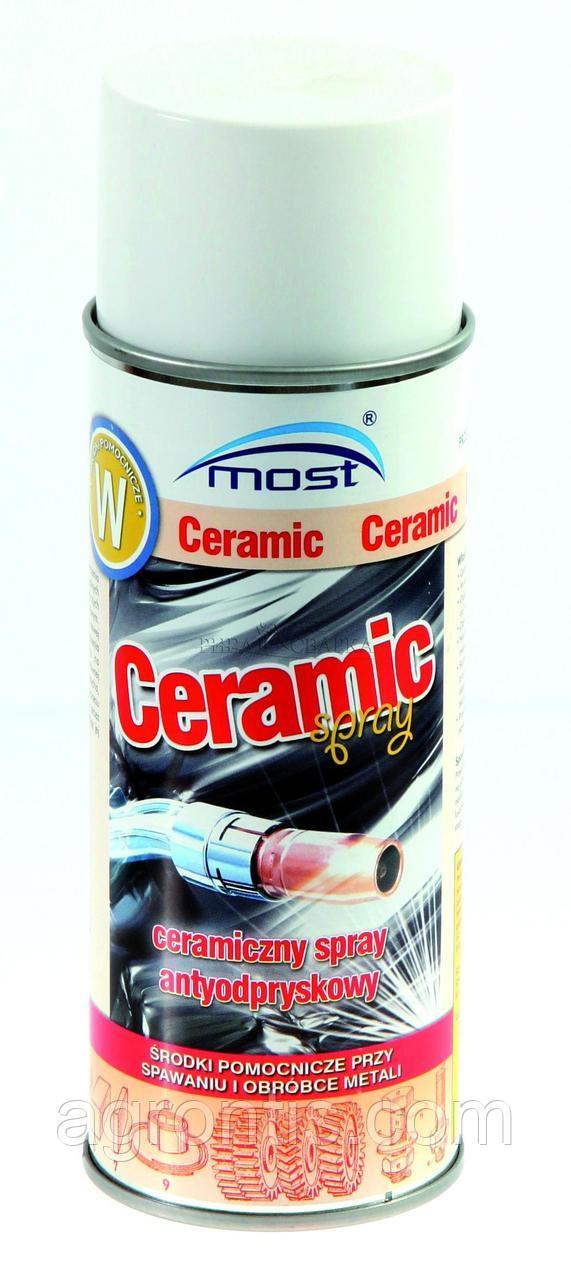 Спрей керамический  MOST Ceramic 400 ml. против налипания сварочных брызг , без силикона ,MOST Ceramic 400 мл