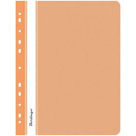 Папка-скоросшиватель пластик. перф. А4, 180мкм, оранжевая.
