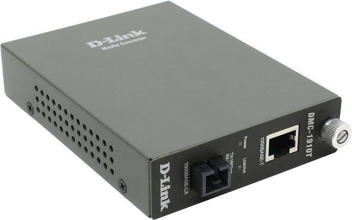 DMC-1910T/A9A WDM медиаконвертер с 1 портом 1000Base-T и 1 портом 1000Base-LX с разъемом SC