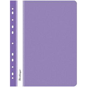 Папка-скоросшиватель пластик. перф. А4, 180мкм, фиолетовая.