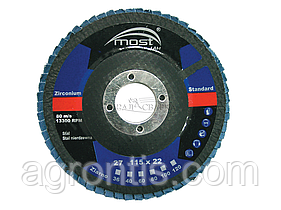 Круг лепестковый MOST 125х22мм Zircon 29E P60