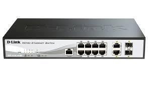 D-Link DES-1210-10/ME/B2A Упр-й комм-р 8-порт 10/100Base-T + 2 комбо-портами 10/100/1000BASE-T/SFP /