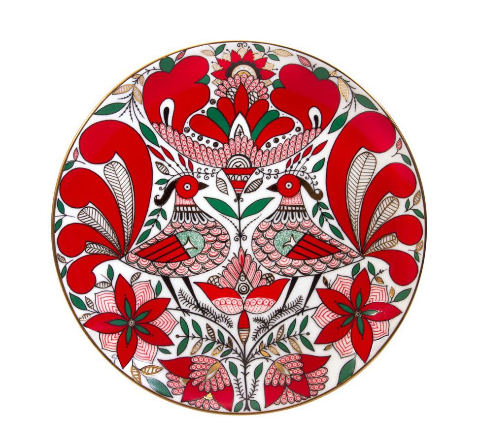 Тарелка декоративная Сказочная птица. Императорский фарфор