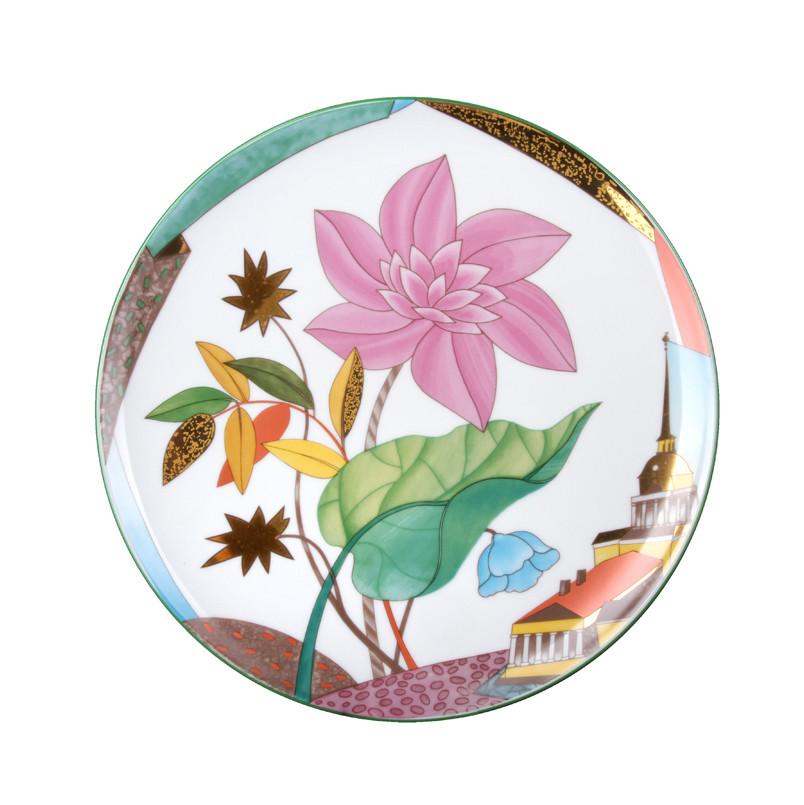Тарелка декоративная Цветущий город. Императорский фарфор