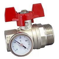 Кран шаровой с термометром IVR м25 п25