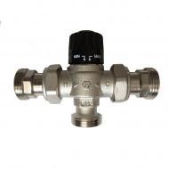 """Клапан термостатический Barberi ф20 3/4"""" 30-65С Kv2,3  обр. клап."""