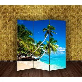 """Ширма """"Пальмы на пляже"""" 150х160см"""