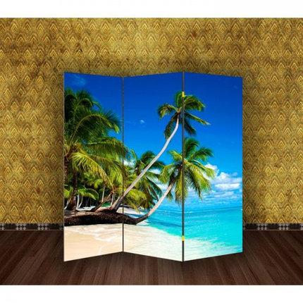 "Ширма ""Пальмы на пляже"" 150х160см, фото 2"