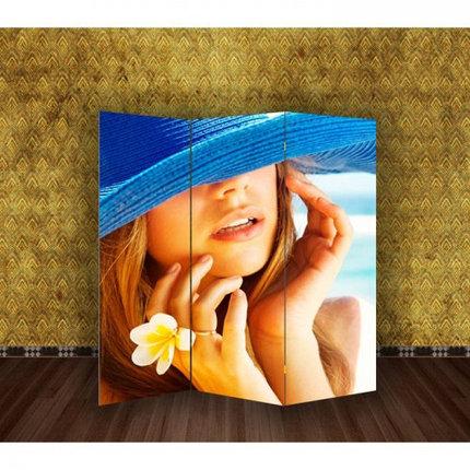 """Ширма """"Девушка с цветком"""" 150х160см, фото 2"""