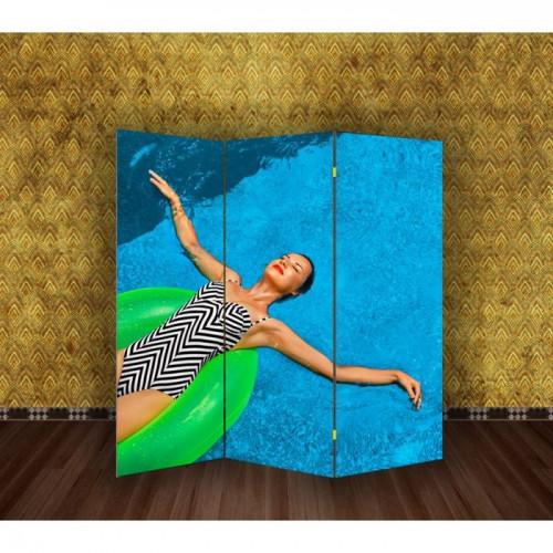 "Ширма ""Девушка в бассейне"" 150х160см"