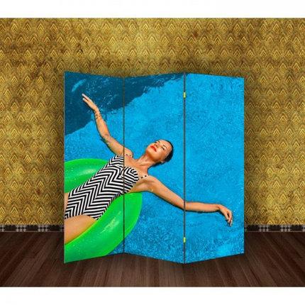 """Ширма """"Девушка в бассейне"""" 150х160см, фото 2"""