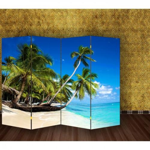 """Ширма """"Пальмы на пляже"""" 200х160см   1997373"""