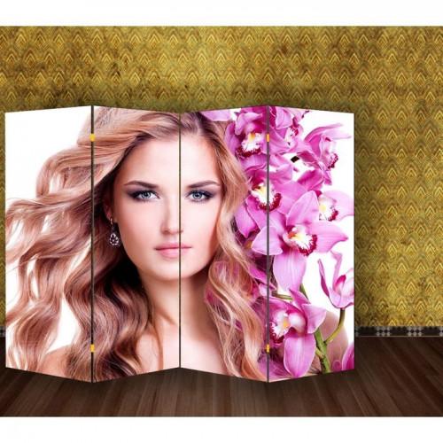 "Ширма ""Девушка с орхидеями"" 150х160см"