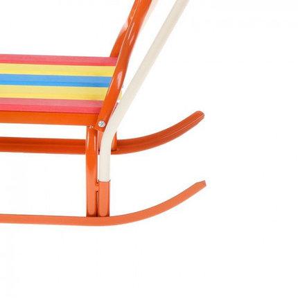 """Санки """"Вятка-4В"""" с толкателем, цвет: оранжевый, фото 2"""