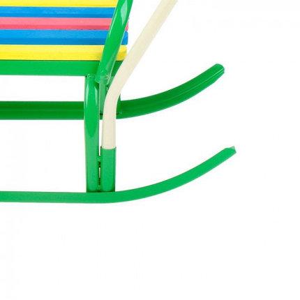"""Санки """"Вятка-4 в"""" с толкателем, цвет зелёный, фото 2"""