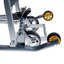 """Санки-коляска """"Ника детям 7-2. Коллаж-жираф"""" с выдвижными колёсами, цвет лимонный, фото 3"""