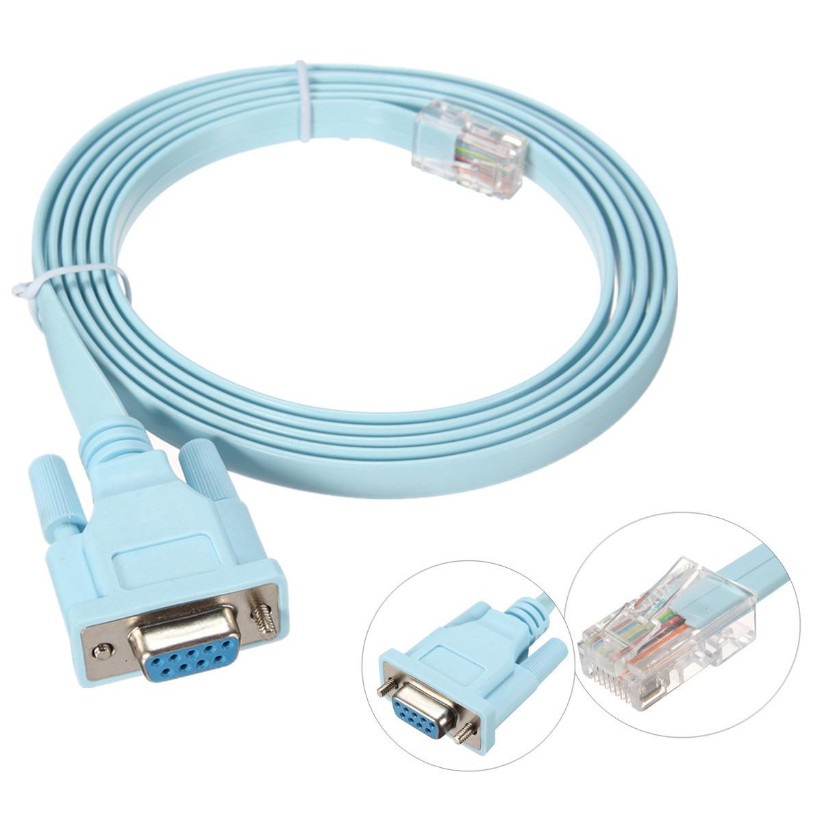 Консольный кабель Cisco RJ45/DB9F RS232 1.5 метра