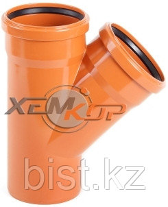 Тройник канализационный 200*200*87
