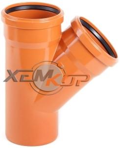 Тройник канализационный 250*250*87