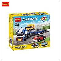 Детский конструктор Decool Architect 3114, Транспортировщик автомобилей  3 в 1, 264 деталей , фото 1