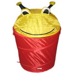 Корзина для игрушек Li Hsen Глазастик красный/желтый
