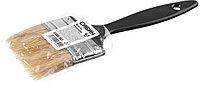 Кисть плоская СИБИН, пластиковая ручка, светлая щетина, 63мм