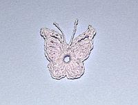 Бабочка вязаная - белая