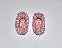 Пинетки вязаные - розовые