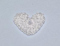 Сердце вязаное (2 см.) - белое