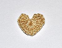 Сердце вязаное (2 см.) - молочный шоколад
