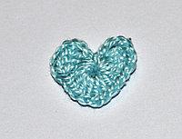 Сердце вязаное (2 см.) - голубое