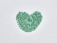 Сердце вязаное (2 см.) - светло-зеленое