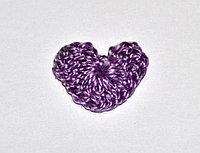 Сердце вязаное (2 см.) - фиолетовое