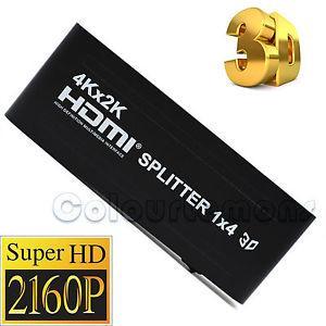 Сплиттер,разветвитель HDMI на 4 порта  4Kx2K 3D