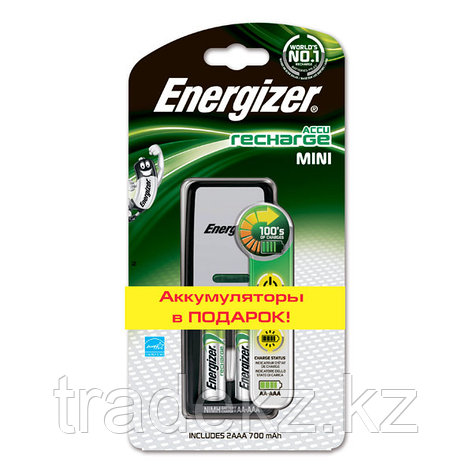 Зарядное устройство ENERGIZER Mini + 2 Аккум 2000 mAh предзаряженные, фото 2