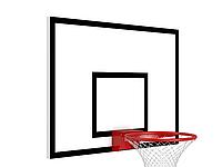 Щит баскетбольный антивандальный игровой из металлического листа 1800мм*1050мм