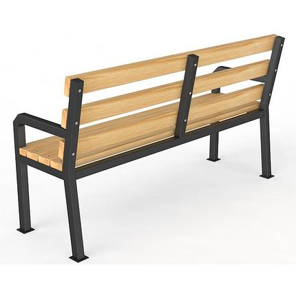 Уличная скамейка со спинкой , фото 2