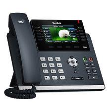 Yealink SIP-T46S SIP-телефон, цветной экран,16 аккаунтов, BLF, PoE, GigE, адаптер питания в комплект не входит