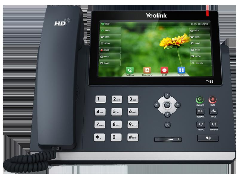 Yealink SIP-T48S SIP-телефон, цветной сенсорный экран, 16 аккаунтов,BLF,PoE,GigE, без БП
